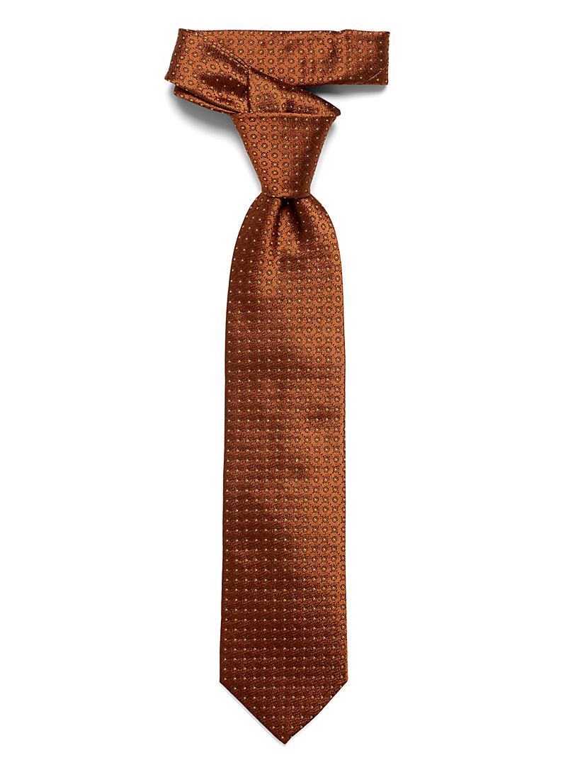 Dotwork copper tie