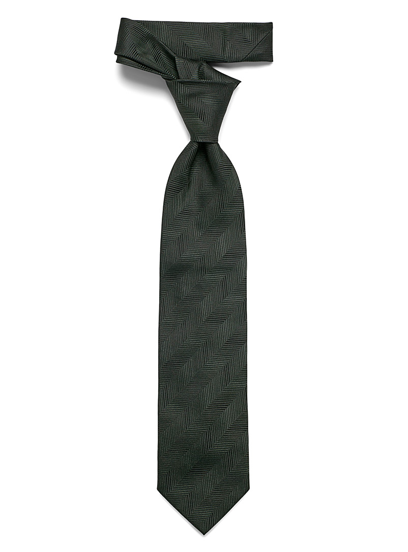 Blick Mossy Green Monochrome herringbone tie for men