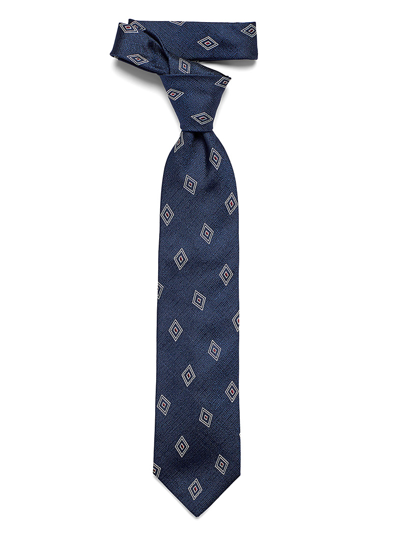 Blick Marine Blue Diamond tie for men