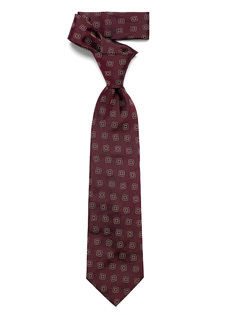 Blick Ruby Red Square medallion tie for men
