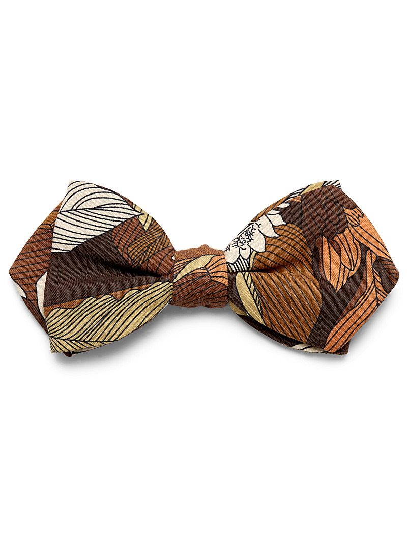 Blick Brown Vintage flower bow tie for men