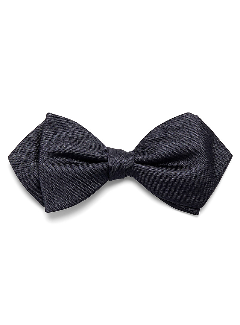 Blick Marine Blue Satiny monochrome bow tie for men