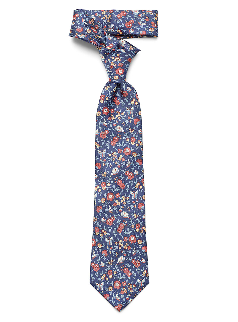 Blick Blue Wild garden tie for men