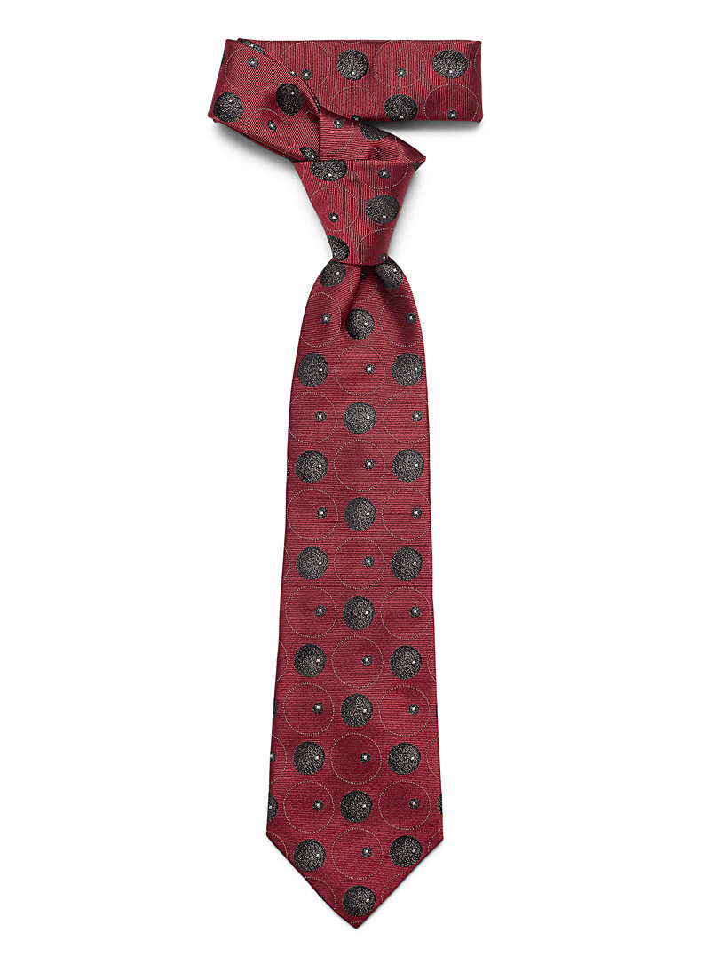 Blick Black Purple geo tie for men