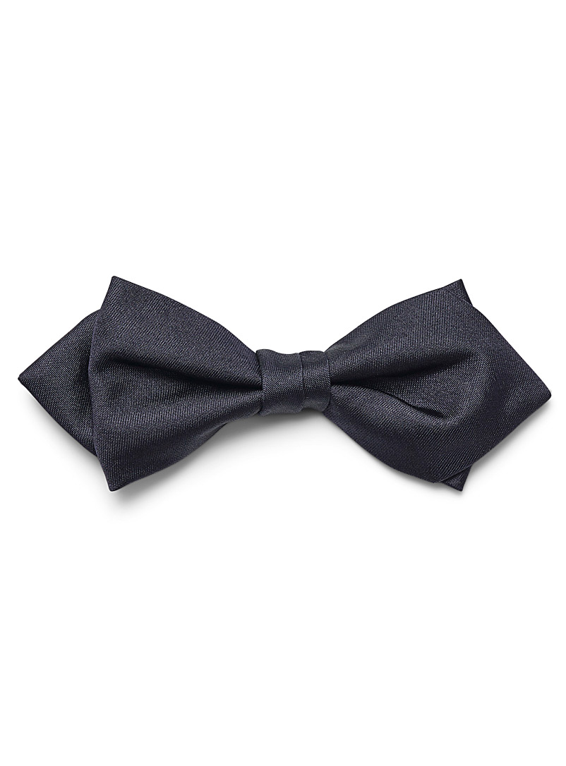 Sateen silk bowtie - Bow Ties - Marine Blue