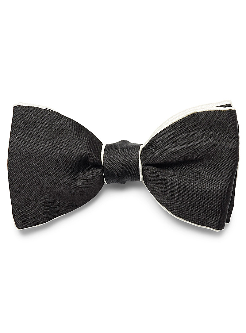 Oversized bow tie - Bow Ties - Patterned Black