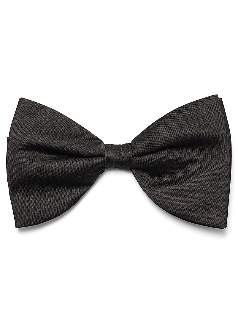 Blick Black Retro satin bow tie for men