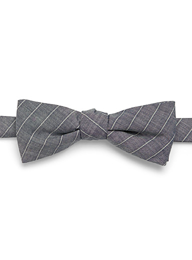 Graphic chambray bow tie