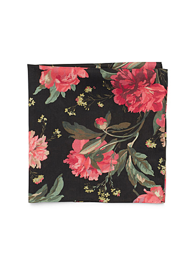 Floral tapestry pocket square