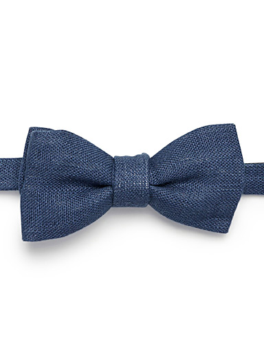 Pure linen bow tie