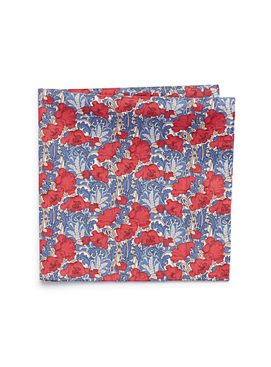 Tapestry bouquet pocket square