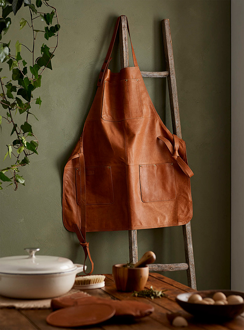 Simons Maison Fawn Genuine leather apron