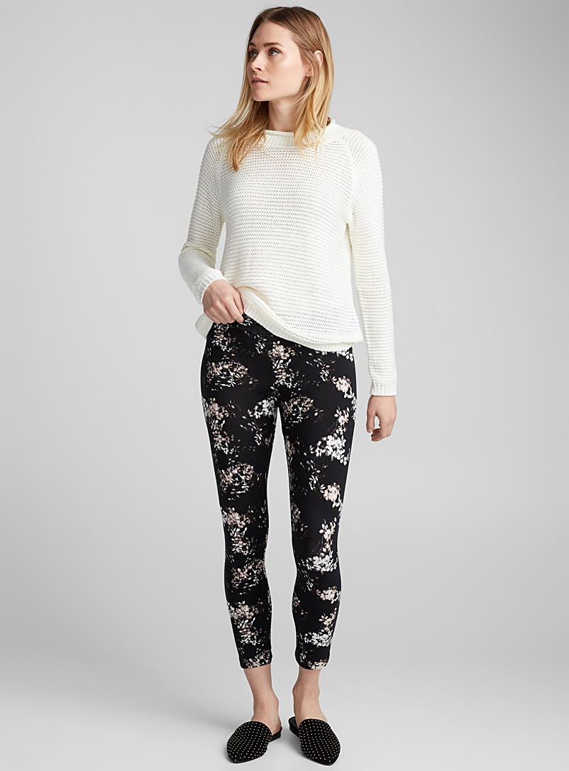 Small flower legging - Leggings & Jeggings - Black