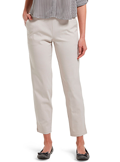 Hue Ivory White Straight worker legging for women