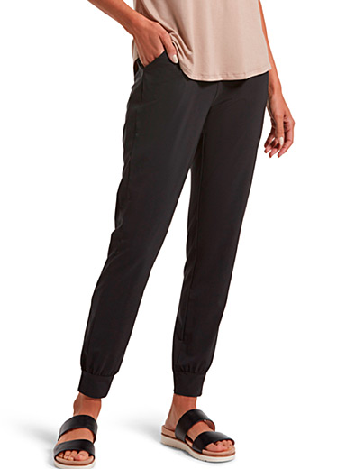 Hue Black Lightweight jogger legging for women