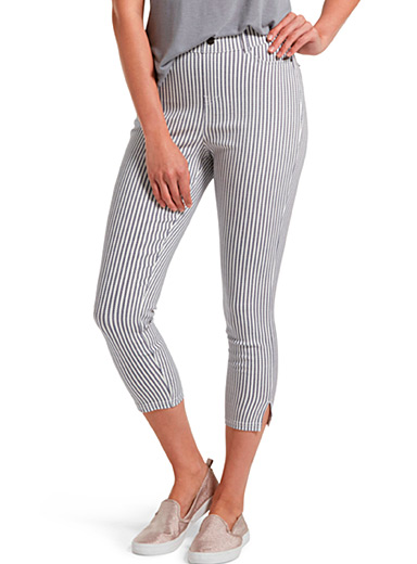 Le jegging capri rayures verticales