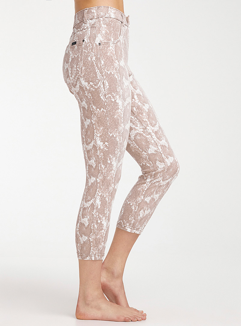 Hue Sand Python-print jegging for women