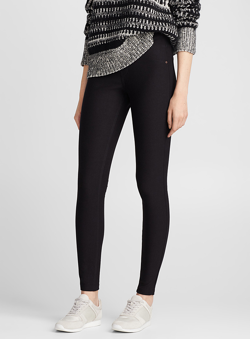 Le legging denim essentiel noir - Leggings et jeggings - Noir
