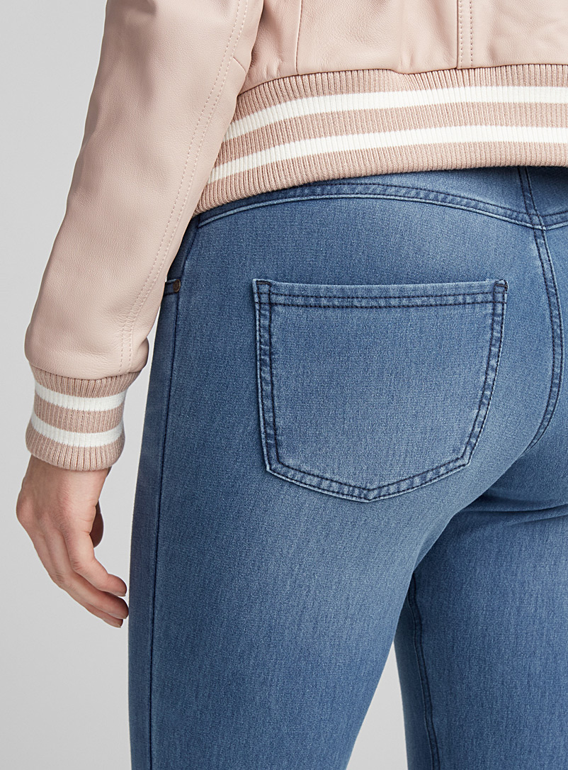 Hue Blue Bouclé terry-lined jegging for women