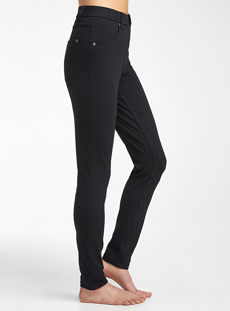Hue Black High-rise essential jegging for women
