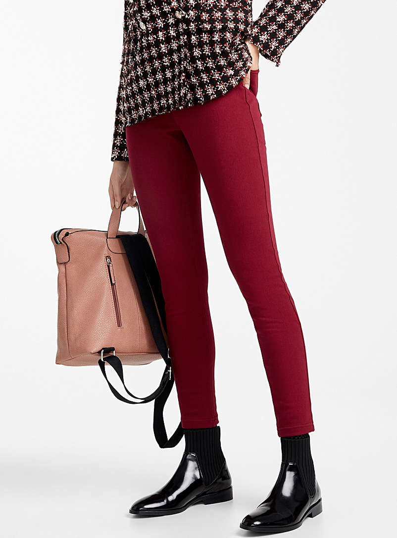 High-rise essential jegging - Leggings & Jeggings - Ruby Red