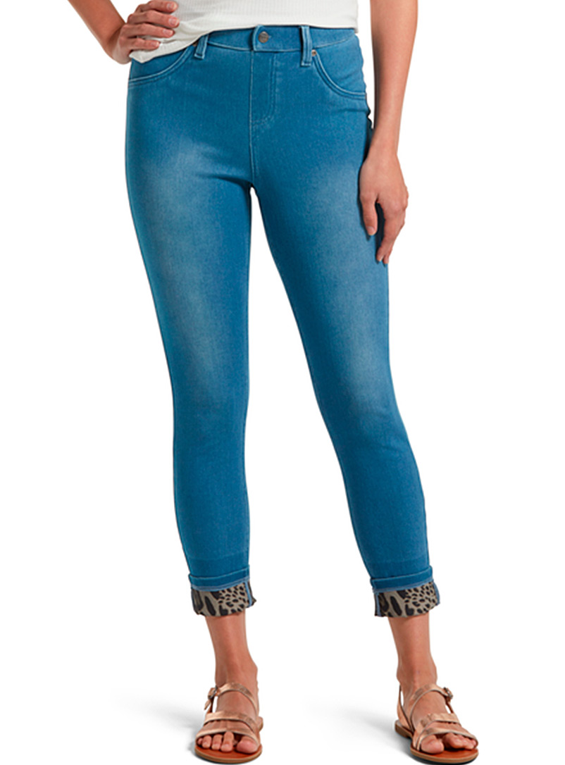 Hue Blue Leopard-lined jegging for women