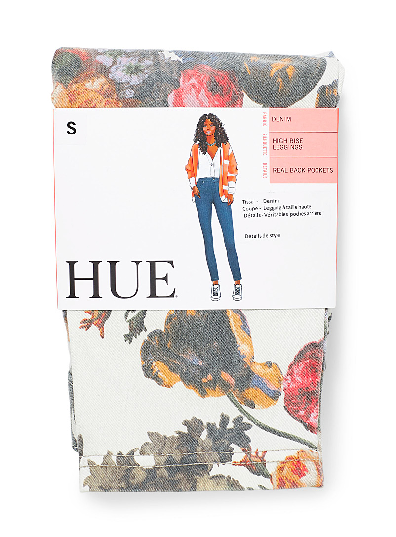 Hue Assorted Faded floral jegging for women