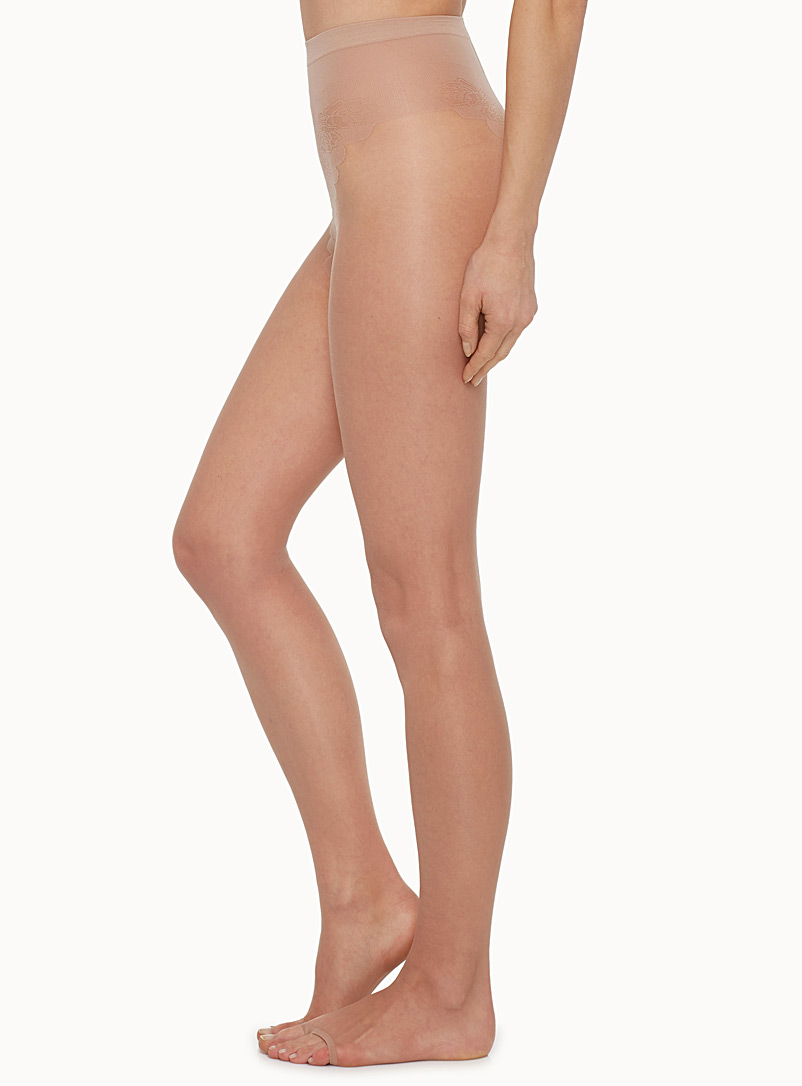 Toeless sheer pantyhose