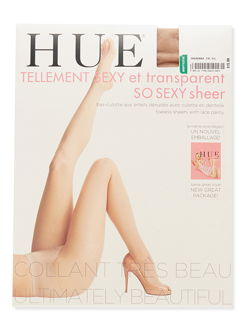 Toeless sheer pantyhose - Regular Nylons - Tan