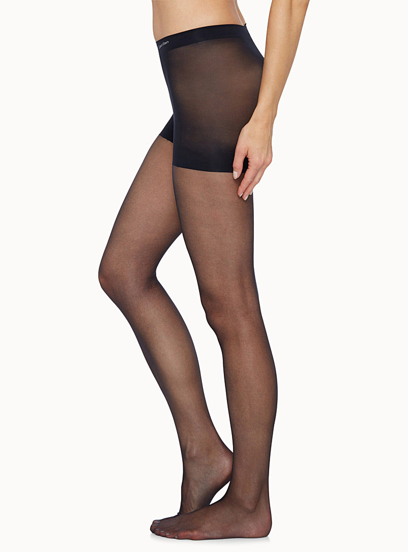 Calvin Klein Black Extra sheer pantyhose for women