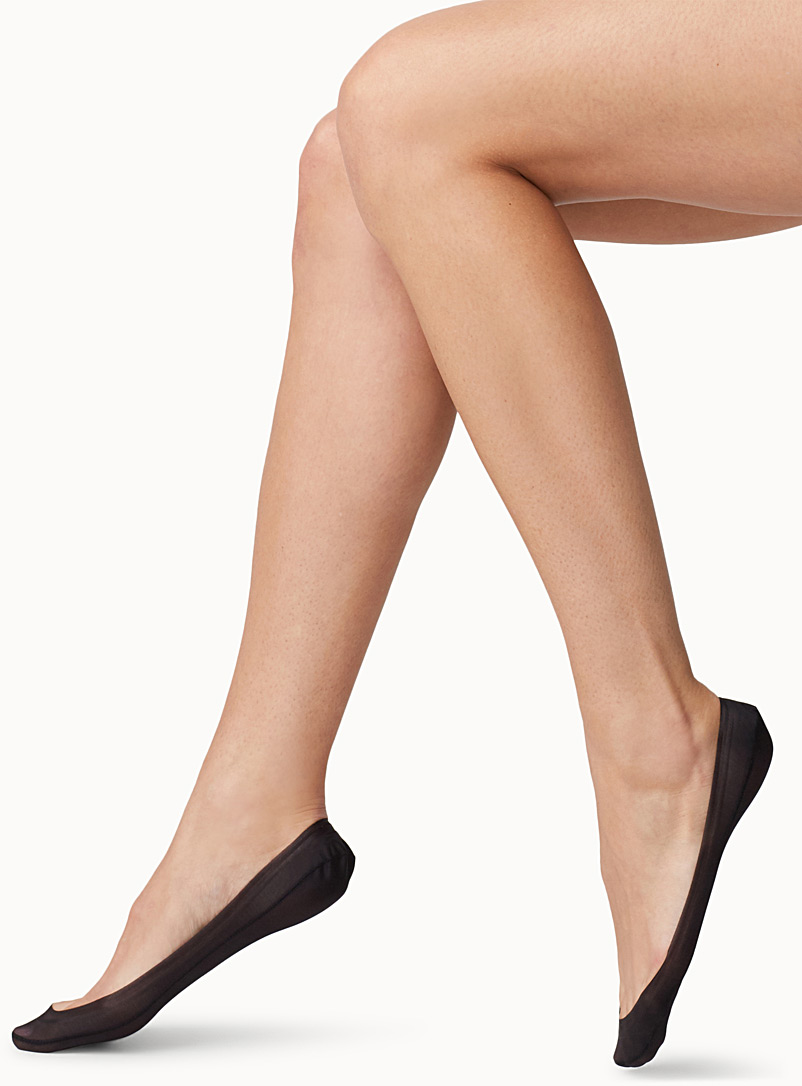 Hue Black Silicone trim foot liner for women