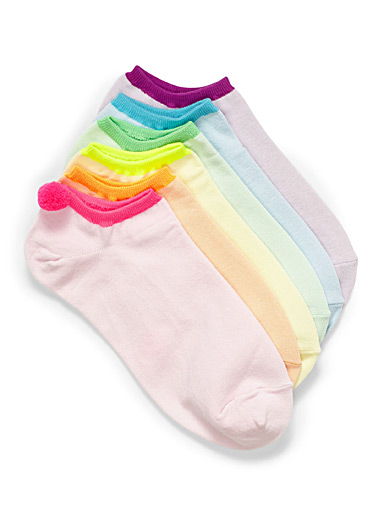 Stretch cotton ped socks <br>Set of 6