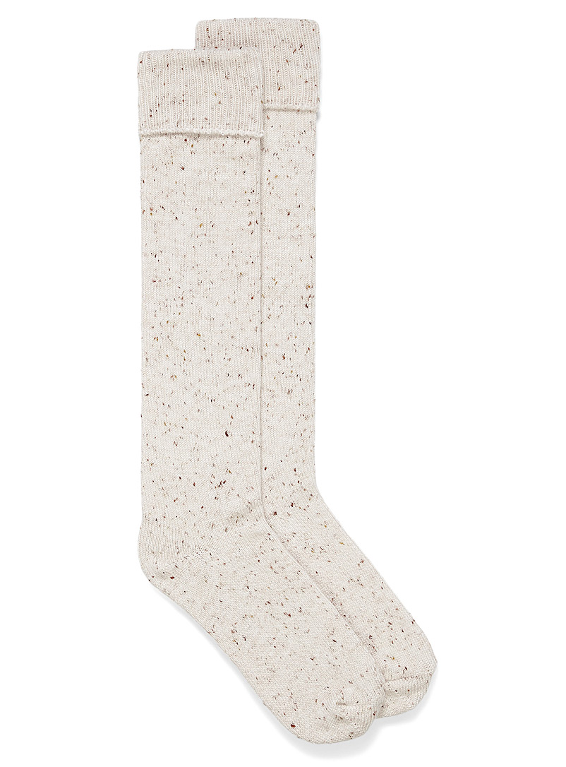 Hue Sand Confetti knit knee-highs for women
