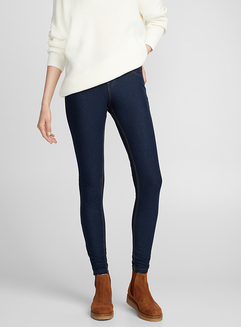 Essential Blue Denim Legging Hue Shop Women S Leggings Jeggings Online Simons