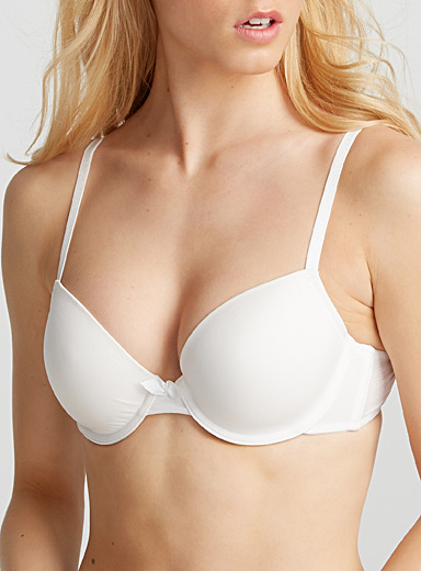Swiss dot back Diva plunge bra