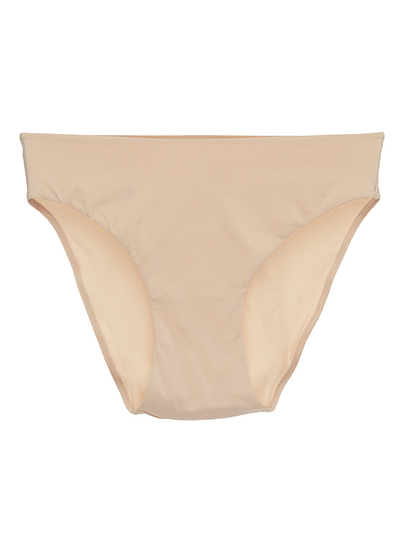 Microfibre high-waist bikini panty - High waist - Cream Beige
