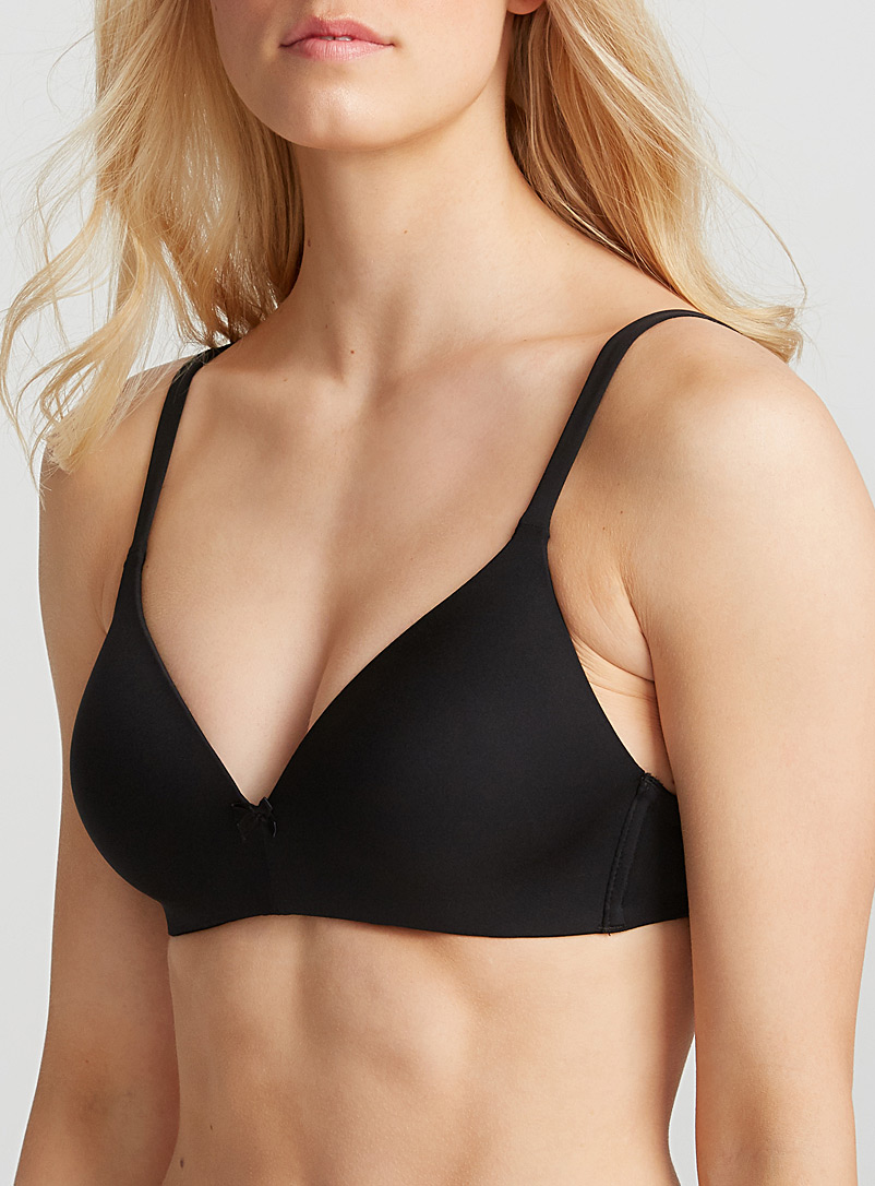 Pur wire-free bra - Wireless & triangle bras - Black
