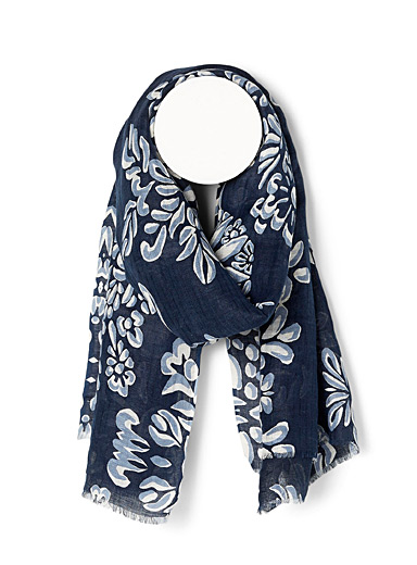 Floral adornment scarf