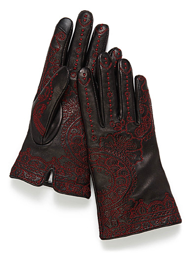 Oriental embroidery gloves
