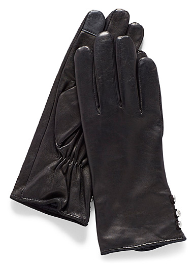 Button tactile gloves