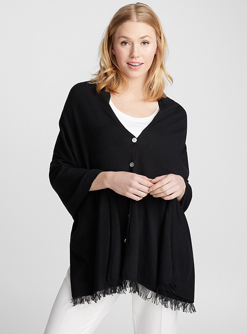 Two-in-one poncho - Capes & Ponchos - Black