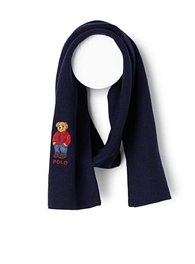 Teddy bear logo scarf