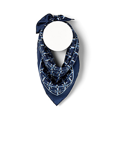Monogram silk scarf