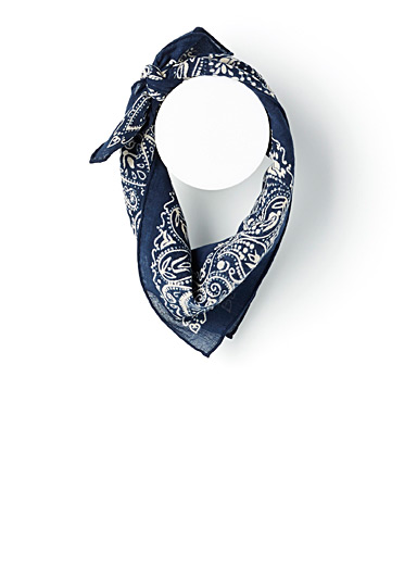 Polo Ralph Lauren Marine Blue Western bandana scarf for men