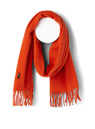 Polo player wool scarf