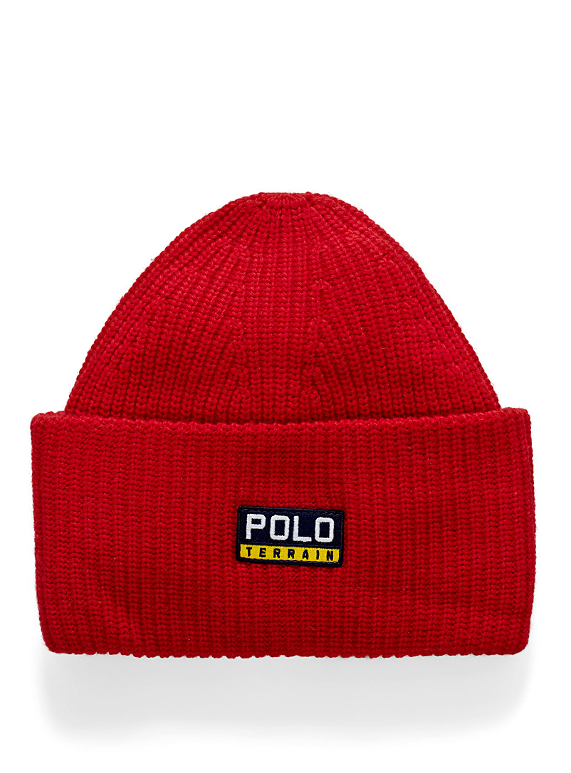 Polo Ralph Lauren Red Vintage logo extra large cuff tuque for men
