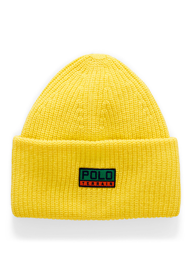 Polo Ralph Lauren Golden Yellow Vintage logo extra large cuff tuque for men