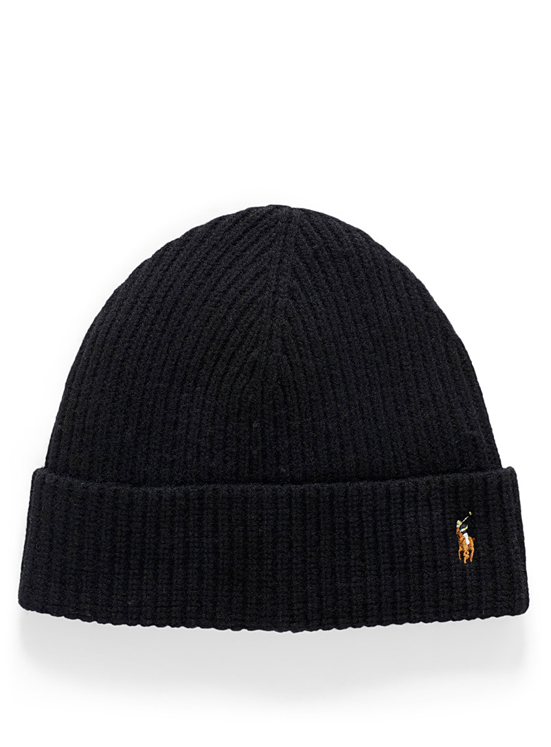 Polo player logo tuque - Tuques - Black