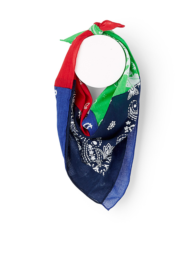 Polo Ralph Lauren Assorted Patchwork bandana scarf for men