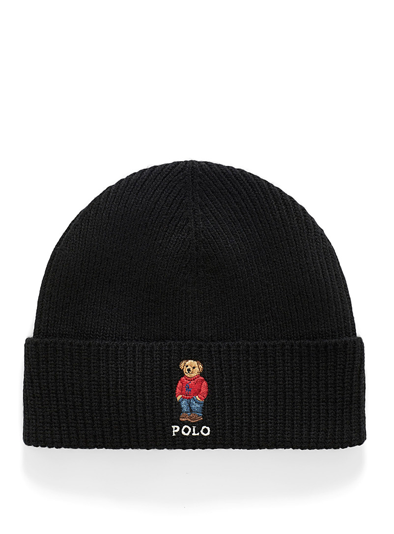 Preppy teddy bear tuque